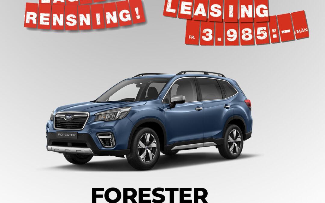 Lagerrensning av Subaru Forester