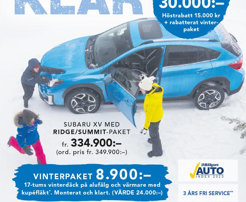VINTERKLAR XV MED RIDGE/SUMMIT-PAKET
